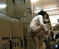 Lady takes off the trousers on a spy cam